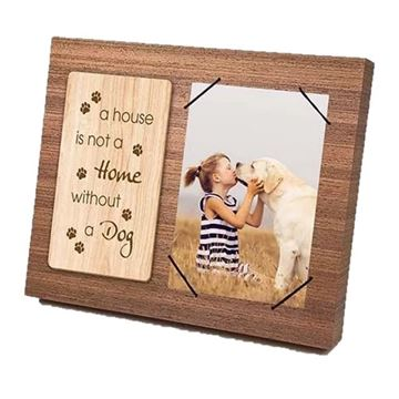 Picture of Dog wooden frame 4x6