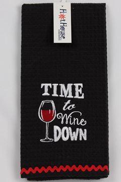 Picture of Tea towel wine down
