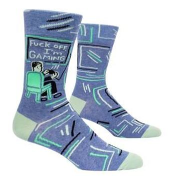 Picture of Mens f**k off im gaming socks