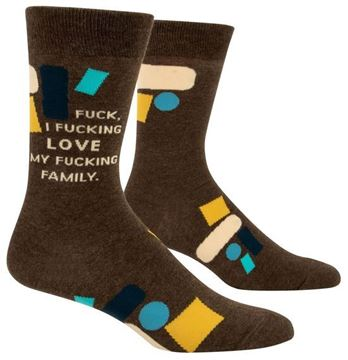 Picture of Mens f*ck love my family socks