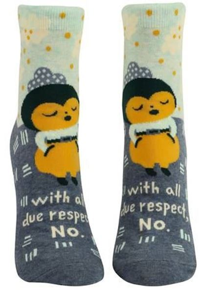 Picture of Womens ankle due respect socks