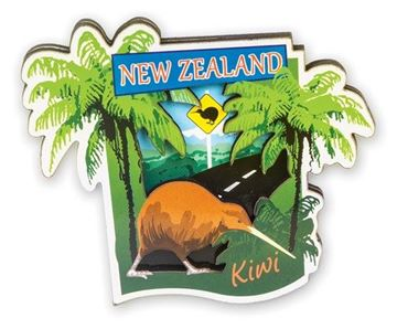 Picture of Magnet 3D kiwi crossing