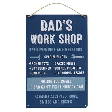 Picture of Dads workshop sign
