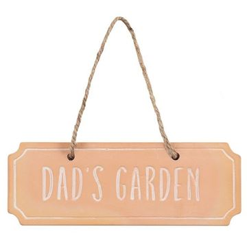 Picture of Dads garden plaque