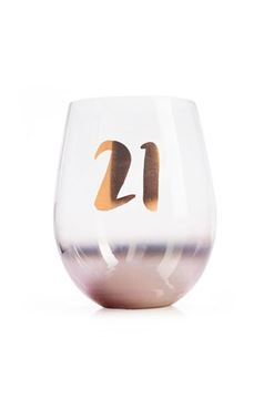 Picture of 21st ombre stemless wineglass