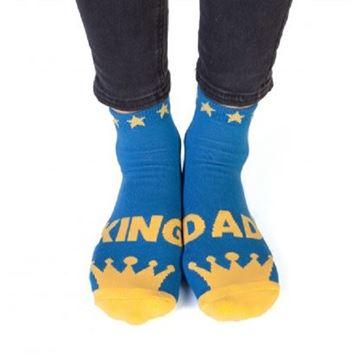 Picture of King dad feet speak socks