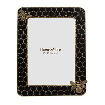 Picture of 5x7 bee in grid photo frame