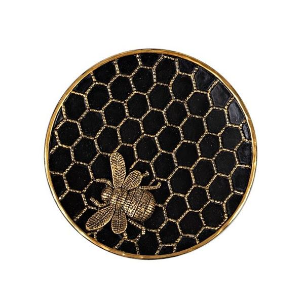 Picture of Bee/honeycomb plate