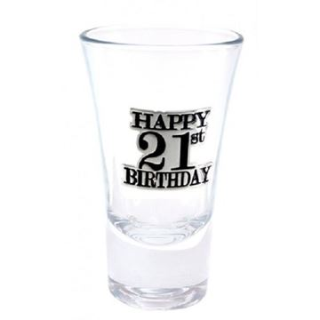 Picture of 21 badge shotglass
