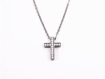 Picture of Black/silver zircon cross