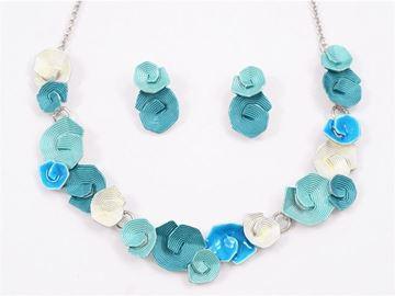 Picture of Blue koru necklace set