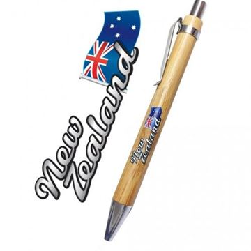 Picture of Bamboo pen nz flag