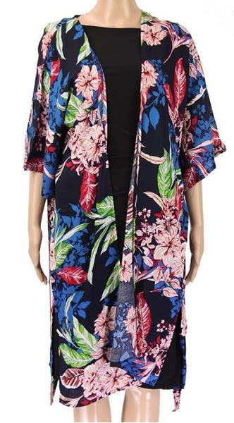 Picture of Navy kimono with belt