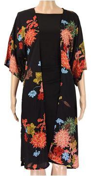 Picture of Black kimono with belt