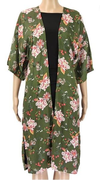Picture of Olive straight sleeve kimono
