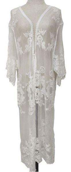 Picture of White lace cape